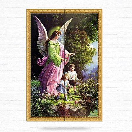 Painel Decorativo de Azulejo Anjo Da Guarda