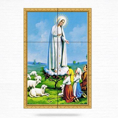 Painel Decorativo de Azulejo Nossa Senhora de Fátima 3 Pastores