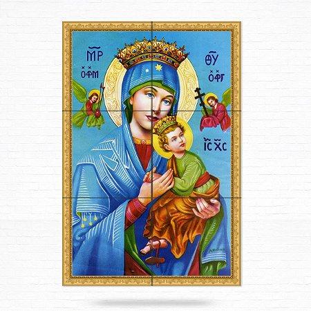 Painel Decorativo de Azulejo Nossa Senhora Perpétuo Socorro