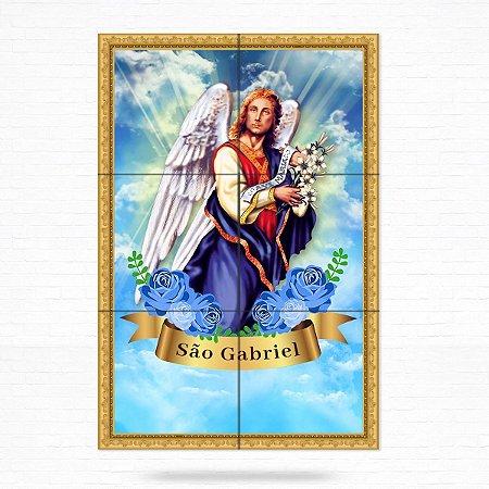 Painel Decorativo de Azulejo São Gabriel Arcanjo #1