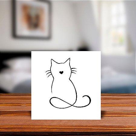 Azulejo Decorativo Gato infinito