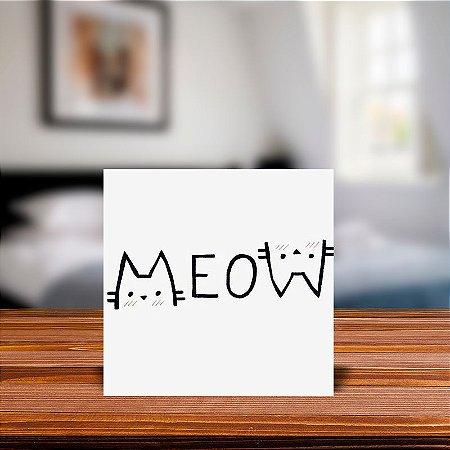 Azulejo Decorativo Meow