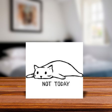 Azulejo Decorativo Gato Not Today