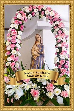 Painel Decorativo de Azulejo de Nossa Senhora Mãe de Deus