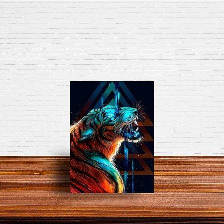 Azulejo Decorativo Abstrato Tigre