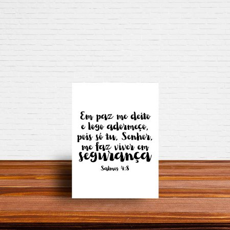 Azulejo Decorativo Salmos 4:8