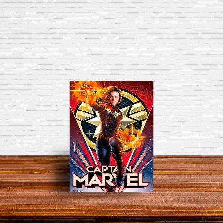 Azulejo Decorativo Capitã Marvel