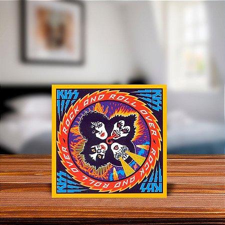 Azulejo Decorativo Kiss Rock And Roll Over