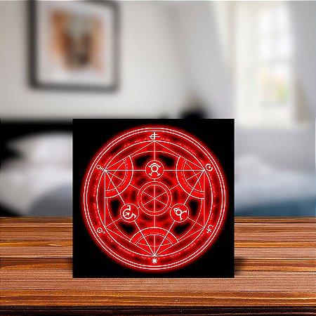 Azulejo Decorativo Circulo de Transmutação Pedra Filosofal