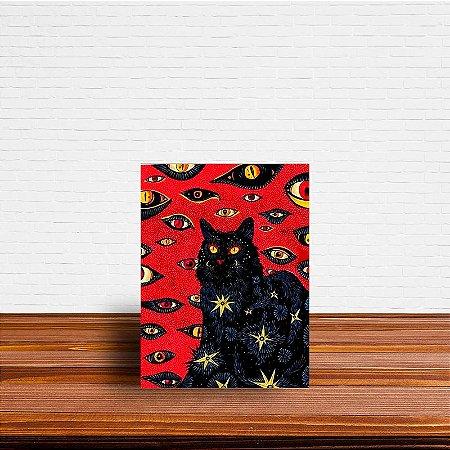 Azulejo Decorativo Gato Preto