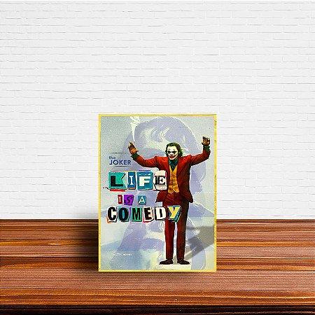 Azulejo Decorativo Life is a Comedy