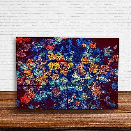 Painel Decorativo Folhas de Outono - Horizontal