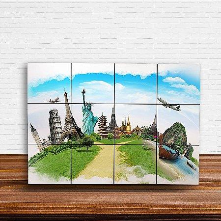 Painel Decorativo Viajante - Monumentos