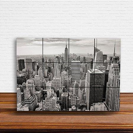 Painel Decorativo New York City Preto e Branco