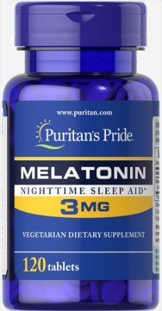Melatonina Puritan's Pride 3 mg 120 Tabletes