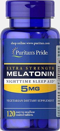 Melatonina Puritan's Pride 5 mg 120 Tabletes