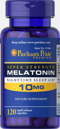 Melatonina Puritan's Pride 10 mg 120 Cápsulas