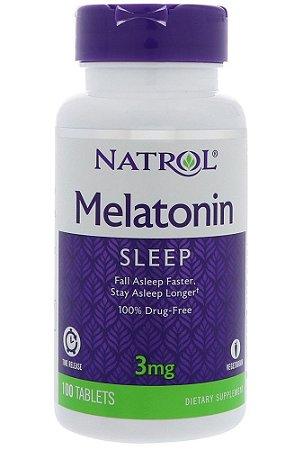 Melatonina Natrol 3 mg 100 Tabletes