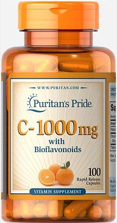 Vitamina C 1000 mg com Bioflavonóides Puritan's Pride 100 Cápsulas