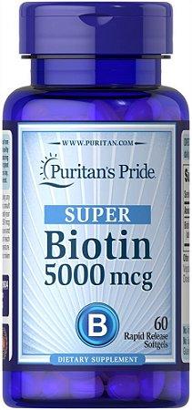 Biotina 5000 mcg Puritan's Pride 60 Softgels