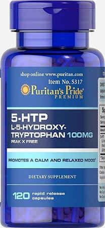 5 HTP 100 mg Puritan's Pride 120 Cápsulas