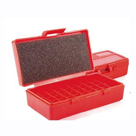 Caixa Shotgun Para 50 munições Calibre 40 S&W e 45 ACP - Vermelho