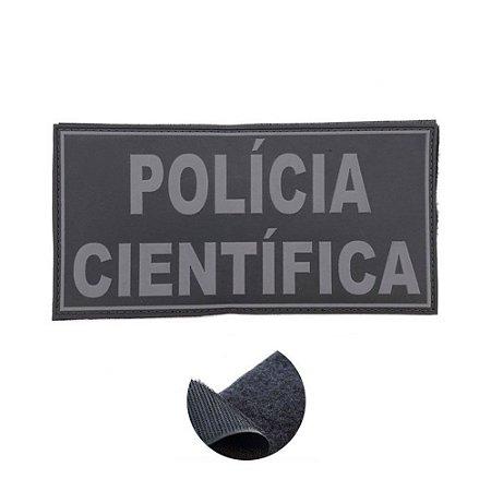 Placa Identificadora Emborrachada Para Costa Do Colete Policia Cientifica
