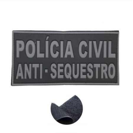 Placa Identificadora Emborrachada Para Costa Do Colete Policia Civil Anti Sequestro