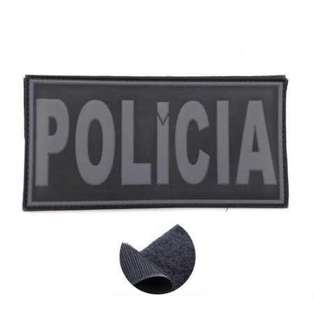 Placa Identificadora Emborrachada Para Costa Do Colete Polícia