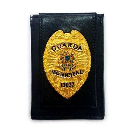 d9f5b78705cd8 CARTEIRA EM COURO LEGITIMO COM DISTINTIVO DA GUARDA MUNICIPAL ...