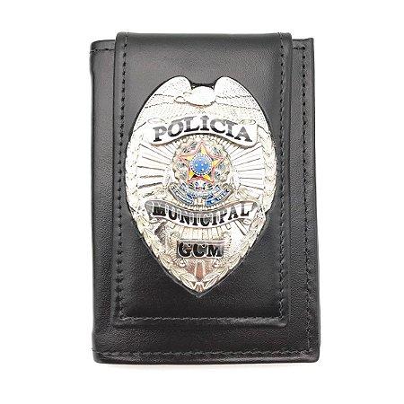 Carteira Porta Funcional Da Policia Municipal