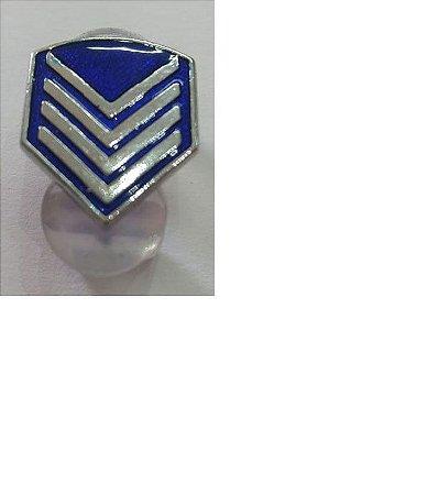 Divisa De Gola 2º Sargento Pm De Metal