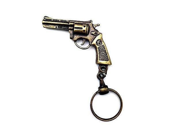 Chaveiro de metal revolver