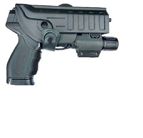 Coldre Para Pt24/7-840-838 Ou Glock Com Lanterna Ou Laser - Destro
