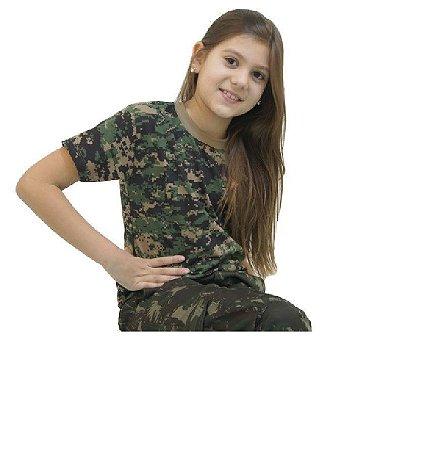 Camiseta Camuflada Infantil Bravo