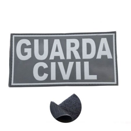 Placa Identificadora Emborrachada Para Costa Do Colete Guarda Civil