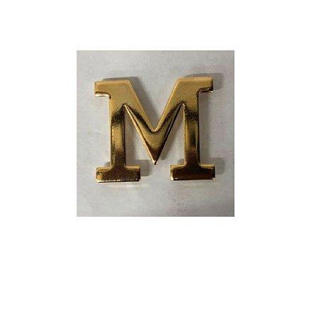 Letra M Metálica Para Braçal