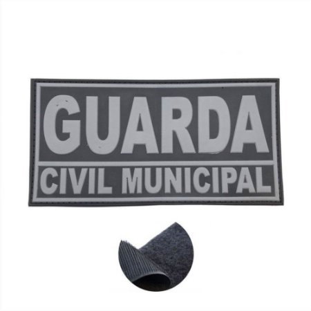 Placa Identificadora Emborrachada Para Costa Do Colete Guarda Civil Municipal