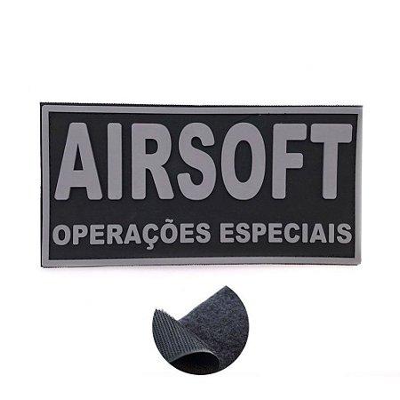 Placa Identificadora Emborrachada Para Costa Do Colete Airsoft