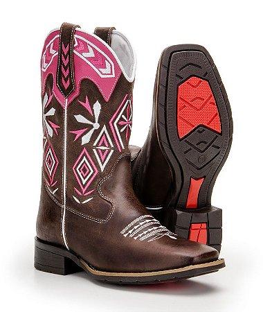 0bdf51d34d Bota Texana Country Feminina Com Bordados - Loja M.C. Ranch