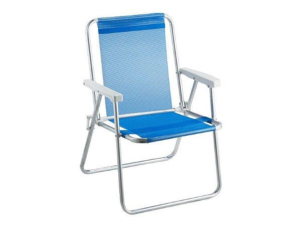 Kit 3 cadeiras beach premium  1 Azul | 1 Lilás  | 1 Preta