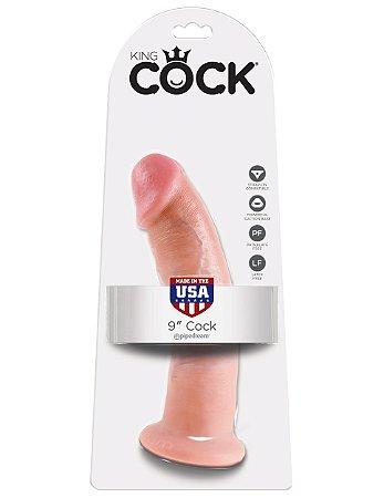"""Dildo King Cock 9"""" Pele Branca (22,9 x 5,3 cm)"""
