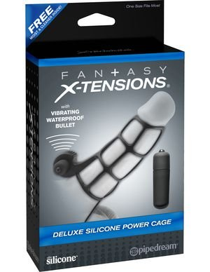 Capa Peniana Deluxe Silicone Power Cage Fantasy X-Tensions