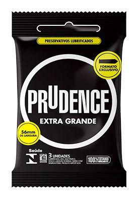 Preservativo Lubrificado Prudence XG com 3 Unidades
