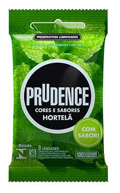 Preservativo Prudence Cores e Sabores Hortelã com 3 Unidades
