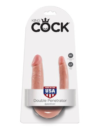 Dildo duplo em formato de U King Cock Pequeno