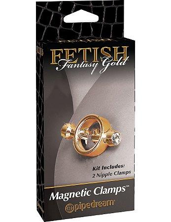 Prendedores de mamilo magnético Fetish Fantasy Gold
