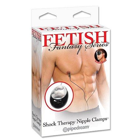 Prendedor de Mamilo de Estimulação Elétrica Fetish Fantasy Shock Therapy
