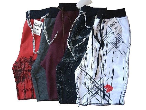 86386012f Kit Com 5 Bermudas Shorts Moletom Masculinos Atacado Revenda - 7zeus ...