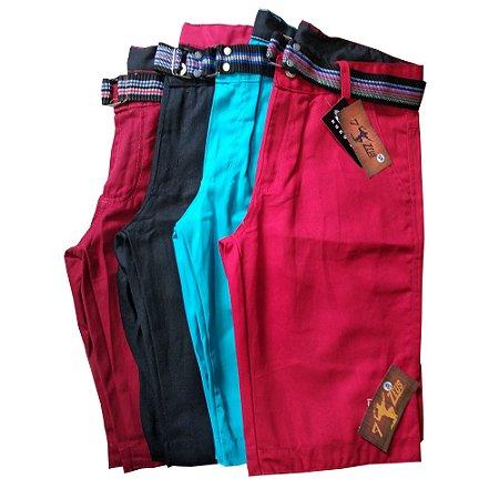 913742e07 Kit Com 4 Bermudas Masculinas Coloridas Baratas - Promoção 4 Cintos de  Brinde!